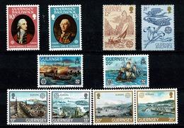 Guernsey 1980/83 EUROPA Yv 199/00**, 217/18**, 248/49**, 267/70**, Mi 204/05**, 223/24**, 246/47**, 265/68** MNH - Guernesey