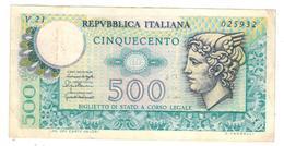 Italy 500 Lire, 1976 , XF. - [ 2] 1946-… : Républic