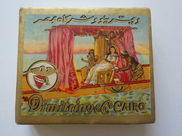 Ancien Paquet 3 Cigarettes Faites Main Hand Made Egypte Dimitrino Cairo Cigarettes égyptiennes Egyptian Cigaret Box - Andere