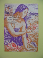 Carte Maximum 1978 N° 121  Polynésie Française Papette - 20 ème Anniversaire Des Premiers Timbres - Cartes-maximum