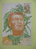 Carte Maximum 1978 N° 122  Polynésie Française Papette - 20 ème Anniversaire Des Premiers Timbres - Cartes-maximum
