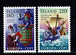 Island 1981 EUROPA Yv  518/19**, Mi 565/66**,  MNH - 1944-... Republique