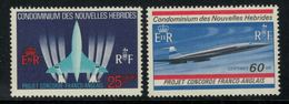 Nouvelles Hébrides // 1960-1980 // 1968 // Avions Supersoniques Timbres Neufs** MNH No. Y&T 276-277 - Légende Française