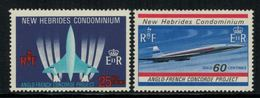 New Hebrides // 1960-1980 // 1968 // Avions Supersoniques Timbres Neufs** MNH No. Y&T 278-279 - Légende Anglaise