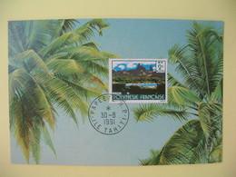 Carte Maximum 1991  Papette RP Ile De Tahiti  - Ua Pou - Cartes-maximum