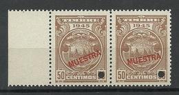 COSTA RICA 1945 Specimen Muestra Proof Essay As Pair MNH - Costa Rica