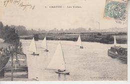 CHATOU - 2 Cartes - Voiles Et Pont  PRIX FIXE - Chatou