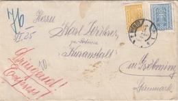 ÖSTERREICH ROHRPOST Express Brief 1925 - 700? + 3000 Kronen Auf Brief, Gel.v. Wien > Gröbning - Errores & Curiosidades