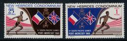 New Hebrides // 1960-1980 // 1969 // Jeux Sportifs Du Pacifique-Sud Timbres Neufs** MNH No. Y&T 284-285 - Légende Anglaise