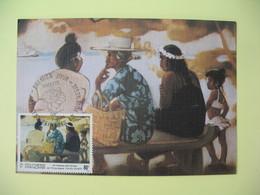 Carte Maximum 1993   Polynésie Française Papette  - Artistes Peintres En Polynésie Shelsher - Cartes-maximum