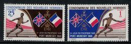 Nouvelles Hébrides // 1960-1980 // 1969 // Jeux Sportifs Du Pacifique-Sud Timbres Neufs** MNH No. Y&T 282-283 - Neufs