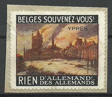 BELGIUM Propaganda Vignette Ypres - Commemorative Labels