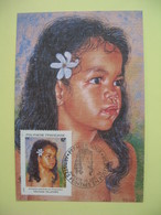Carte Maximum 1994   Polynésie Française Papette  - Artistes Peintres En Polynésie Michelle Villemin - Cartes-maximum