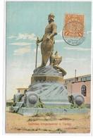 CARD CINA TIENTSIN MONUMENTO  A IMPERATORE TEDESCO FRANCOBOLLO CON TIMBRO POSTA IMPERIALE CINESE  -FP-V-2-0882-28949 - Chine