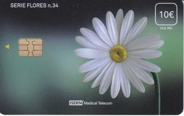 ISN-272 TARJETA DE ESPAÑA DE ISERN DE LA SERIE FLORES Nº34 FLOR-FLOWER - Flores