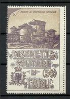 Italia Italy Distretto Militare Di Forli Military Vignette Advertising Poster Stamp Rocca Di Caterina Sforza MNH - Vignetten (Erinnophilie)