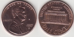 U.S.A. 1 Cent 1997D (Lincoln Memorial) Km#201b - Used - Emissioni Federali