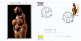 France  2019 FDC : Le Nu Dans L'Art. Sculpture Paléolithique Supérieur. Obliteration 1er Jour 29/03/2019 Paris. - 2010-....
