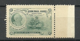 USA John Paul Jones Junior Naval Reserve Training School Military Vignette MNH - Cinderellas