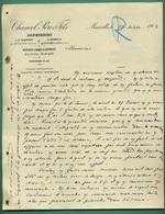 13 Marseille 84 Entraigues Saint Saturnin Les Avignons Papeteries De St Albergaty Gromel Chancel Pére Et Fils 21 10 1903 - Imprimerie & Papeterie