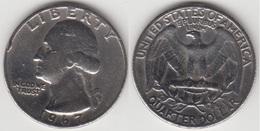 U.S.A. 25 Cents 1967 (Washington) Km#164a - Used - 1932-1998: Washington