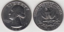 U.S.A. 25 Cents 1984 (Washington) Km#164a - Used - 1932-1998: Washington