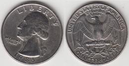 U.S.A. 25 Cents 1985 (Washington) Km#164a - Used - 1932-1998: Washington