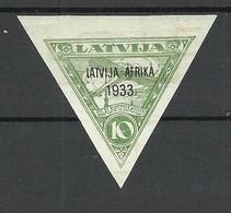 FAUX Fälschung LETTLAND Latvia 1933 Michel 220 FAKE MNH - Letland