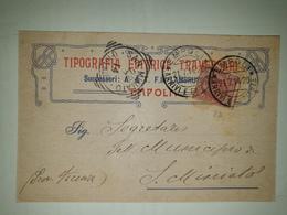 CP352-Cartolina Pubblicitaria Tipografia Traversari - Empoli - 1900-44 Victor Emmanuel III