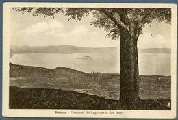 °°° Cartolina N . 22 Bolsena Panorama Del Lago Con Le Due Isole Viaggiata °°° - Viterbo