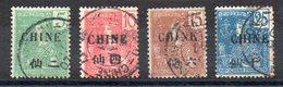 CHINE - YT N° 65-66-67-70 - Cote: 17,10 € - Oblitérés