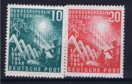 Bundespost: Mi 111 + 112 Postfrisch/neuf Sans Charniere /MNH/** 1949 20 Pf BPP Signiert Some Spots - Ungebraucht