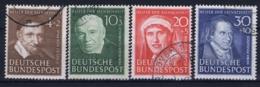 Bundespost: Mi 143 - 146 Obl./Gestempelt/used   1951 - Usati