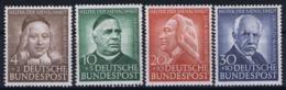 Bundespost: Mi 173 - 176  Postfrisch/neuf Sans Charniere /MNH/** 1953 - BRD
