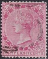 Ceylon  .   SG   .   130w    Wmk  Inverted      .       O      .      Cancelled        .   /    . Gebruikt - Ceylon (...-1947)