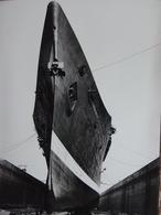 Rare!  Impressionnante Photo Ancienne Normandie Paquebot Bateau Ship Saint Nazaire ! - Bateaux