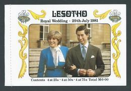 Lesotho 1981 Charles & Diana Royal Wedding Stitched Booklet With Set Of 4 Booklet Panes Complete - Lesotho (1966-...)