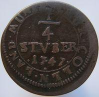 Germany COLOGNE 1/4 STUBER 1747 F - [ 1] …-1871 : Etats Allemands