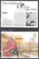 Muntbrief Van Moldova Met Stempel Posta Moldova Chsinau 07109418 - Moldavie
