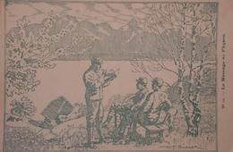 Militair Correspondence Card (le Message. De Paques) Illustrator W. F. Burger 19?? Rare - Militaria