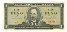 Cuba 1 Peso 1961, P-94a, AUNC/UNC. RARE. - Cuba
