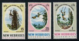 New Hebrides // 1960-1980 // 1969 // Saut Du Gaul Timbres Neufs** MNH No. Y&T 289-291 - Légende Anglaise