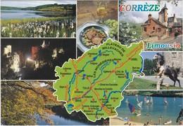 Carte Géo: Edit: 1995 DEBAISIEUX N° C19/22  LA CORREZE - France