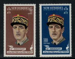 New Hebrides // 1960-1980 // 1970 // Général De Gaulle Timbres Neufs** MNH No. Y&T 296-297 - Légende Anglaise