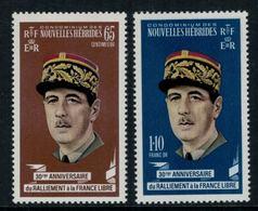 Nouvelles Hébrides // 1960-1980 // 1970 // Général De Gaulle Timbres Neufs** MNH No. Y&T 294-295 - Légende Française