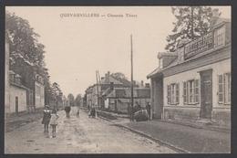 Cpa 80 Somme - QUEVAUVILLERS - Chaussée Thiers - Animée Vins Morville Delépine Sirops Liqueurs - TBE - 1918 - Francia