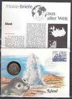 Muntbrief Van Island 17/01/1985 - Lettres & Documents