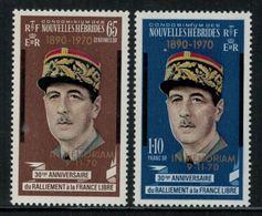 Nouvelles Hébrides // 1960-1980 // 1970 // A La Mémoire Du Général De Gaulle Timbres Neufs** MNH No. Y&T 304-305 - Neufs