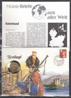 Muntbrief Van Scotland Met Stempel Edinburgh 25/Ju/90 - Universal Mail Stamps