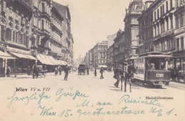 Wien 6: Mariahilfer Straße Mit Tramway 1907 !!! - Zonder Classificatie